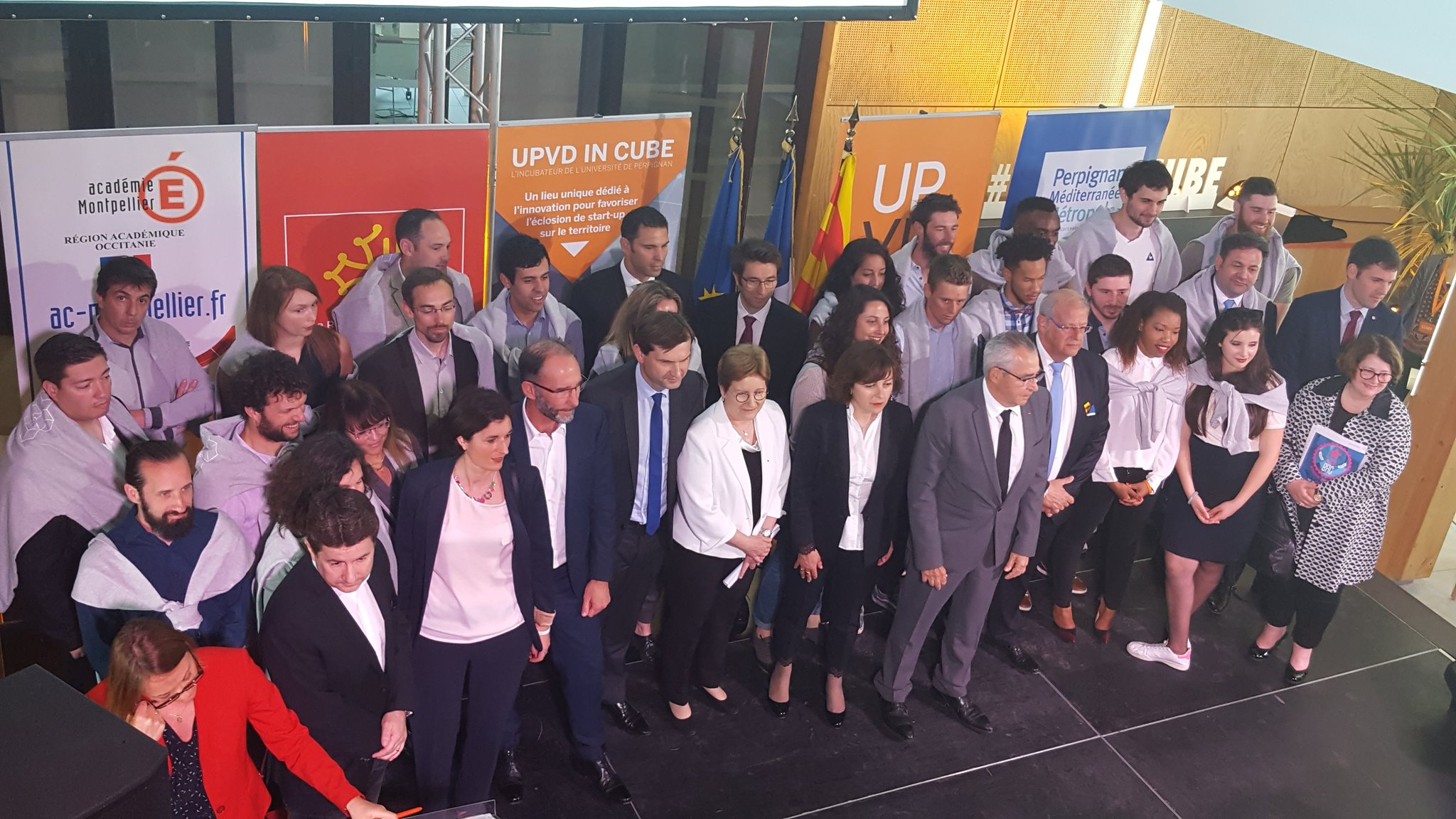 Inauguration d'UPVD IN CUBE